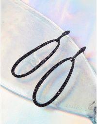Сережки довгі у формі крапель зі стразами | 240127-02-XX