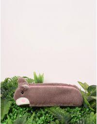 Пенал хутряний з вушками у вигляді кролика | 238834-39-XX