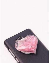 Попсокет у вигляді серця з блискітками | 239141-14-XX
