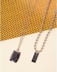 Підвіски на шию у наборі 2 шт з написом на кулонах | 238918-05-XX