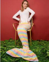 Ковдра у вигляді хвоста русалоньки з яскравим малюнком | 236544-18-XX
