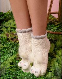 Шкарпетки високі теплі з пугаком | 235280-01-XX
