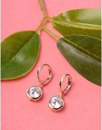 Сережки з англійською застібкою та кристалами | 229021-08-XX