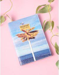 Обкладинка на паспорт з принтом вказівника | 201220-21-XX