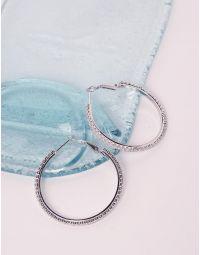 Сережки кільця декоровані стразами | 238642-06-XX