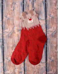 шкарпетки новорічні з ведмедиками | 239517-27-XX