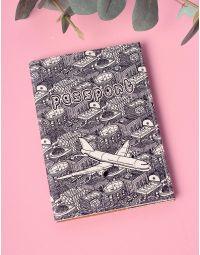 Обкладинка на паспорт з принтом літака | 201215-21-XX