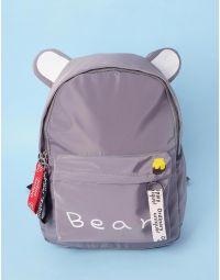 Рюкзак молодіжний з вушками та написом | 233560-11-XX