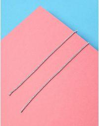 Сережки довгі зі стразами | 235470-06-XX