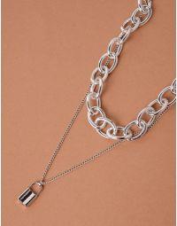 Підвіска чокер із ланцюга з кулоном у вигляді замка | 238070-05-XX