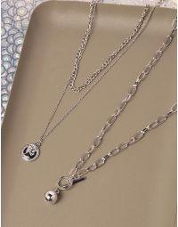 Підвіска на шию з кулоном та металевою кулькою | 238915-05-XX