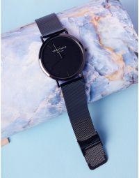 Годинник з металевим ремінцем та круглим циферблатом | 237301-02-XX