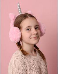 Навушники хутряні дитячі у вигляді єдинорога | 236377-14-XX