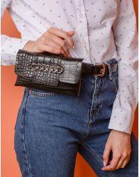 Ремінь з ланцюгом на гаманці з тваринним принтом | 237705-02-XX