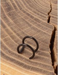 Сережка обманка у вигляді двох кілець | 232050-02-XX