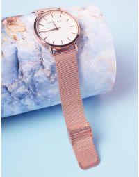Годинник з металевим ремінцем та круглим циферблатом | 237301-69-XX