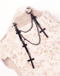 Моносережка кафа з хрестами на ланцюжках | 238865-02-XX