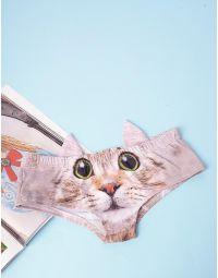 Трусики з принтом кішки та вушками | 236212-22-03