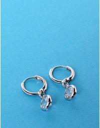 Сережки з англійською застібкою та кристалами | 229021-06-XX
