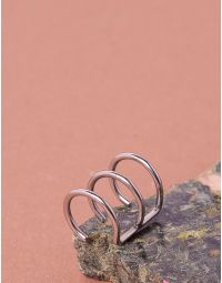 Сережка обманка з трьох кілець | 234488-05-XX