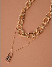 Підвіска чокер із ланцюга з кулоном у вигляді замка | 238070-04-XX