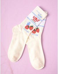 Шкарпетки з принтом полуниці | 235263-01-XX