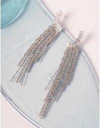 Сережки довгі інкрустовані кристалами | 238726-06-XX