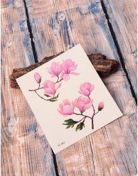 Тату тимчасове з принтом квітів на гілках | 238221-21-XX