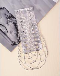 Сережки кільця у наборі різного розміру | 237761-05-XX