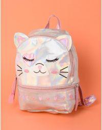 Рюкзак лаковий у вигляді кішки з вушками та серцями | 237956-05-XX