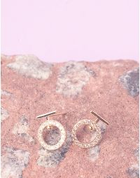 Сережки пусети з кільцями | 236938-04-XX