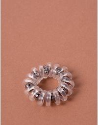 Резинка для волосся спіральна з намистинами | 238161-10-XX