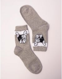 Шкарпетки з малюнком бульдога | 238453-11-XX