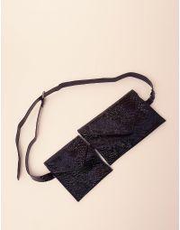 Сумка на пояс з гаманцем під шкіру крокодила | 237437-02-XX
