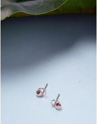 Сережки пусети з кільцями | 236083-04-XX