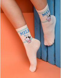 Шкарпетки із зображенням  молока | 233909-13-XX