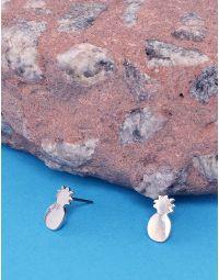 Сережки пусети у вигляді ананасів | 236647-05-XX