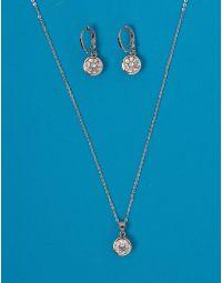Комплект із підвіски та сережок з камінцями | 228475-06-XX