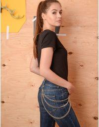 Ланцюг підвіска на брюки та джинси потрійна з карабінами | 237062-05-XX