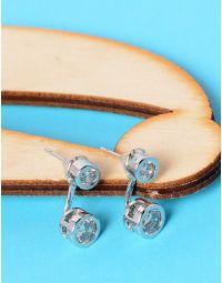 Сережки двосторонні з кристалами | 228417-06-XX