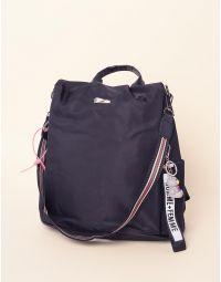 Рюкзак трансформер зі смугастим ремінцем та ведмедиком | 237649-02-XX
