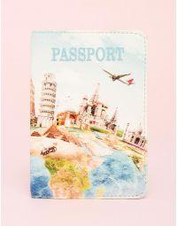 Обкладинка на паспорт з малюнком памяток | 230400-21-XX