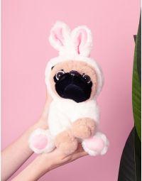 Іграшка у вигляді мопса у кігурумі зайця | 236546-01-XX