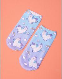 Шкарпетки з принтом альпака | 237706-35-XX