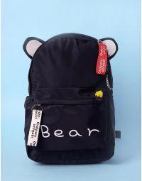 Рюкзак молодіжний з вушками та написом | 233560-02-XX