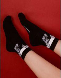 Шкарпетки з малюнком бульдога | 238453-02-XX