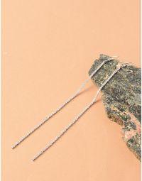 Сережки довгі з камінцями | 235328-06-XX