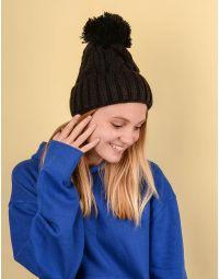 Шапка з бубоном та плетеними косами   220239-02-XX
