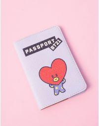 Обкладинка на паспорт з принтом TATA  Ви bts bt21 | 237249-31-XX