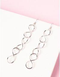 Сережки довгі у вигляді ланцюжка із знаків нескінченності | 234639-05-XX